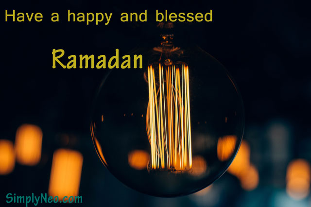 Have a happy and blessed Ramadan