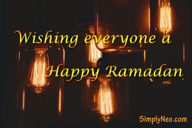 Wishing everyone happy Ramadan